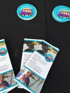 Spreading the words about Transporting the Brave at the Denver Zoo Dream Night